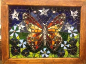 mosaic butterfly by stephanie space