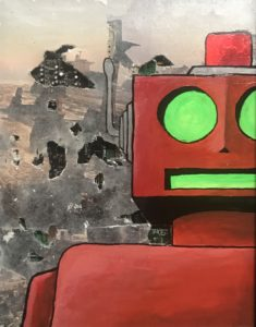 anthony contini red robot painting